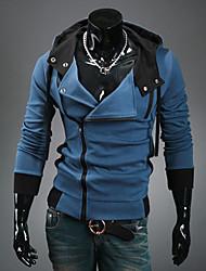 Loisirs Mode Suspension de la capuche DJJM hommes cultivent son manteau cardigan en laine polaire (bleu)