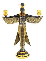 """13.75 """"O Egito Puxa Preto e cor do ouro Polyresin Collectibles"""