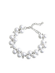 Lureme®Alloy Pearls Crystal Bracelet