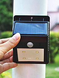 Solar Powered 4 PIR LED sensore di luce esterna (CIS-57243)