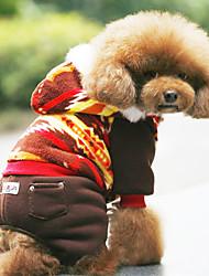 Super Soft Fleece Warm Bunte Kapuzenoverall für Haustiere Hunde (versch. Farben, Größen)