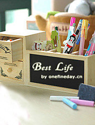 Modern Beige Mini Desktop Hout Storage Box