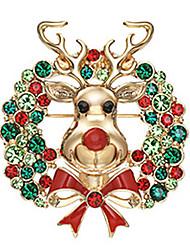 Xinguang Cute Christmas Reindeer Brooch