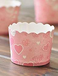 Heart Purfle Cupcake Wrappers - Set of 50