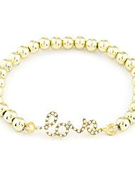 Plastique AMOUR Bracelet en perles