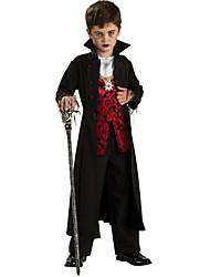 Halloween Costume Real Vampiro Preto Poliéster Kids '