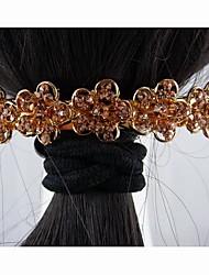 Moda aleación hermosa con la flor cristalina de las horquillas de color caqui de la Mujer