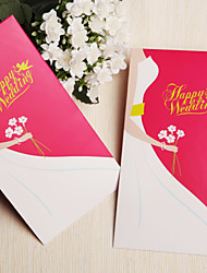 Wedding Décor  Dress Pattern Money Card Gifts Bag/Envelop - Set of 12