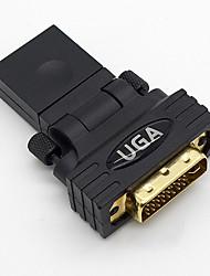 HDMI V1.3-Buchse auf DVI-I (24 +5)-Pin Stecker-Adapter 180 Grad