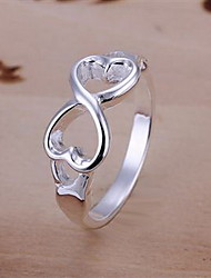 Ring,Band Rings,Jewelry Silver / Sterling Silver / Alloy Party / Daily Silver6 / 7 / 8 / 9