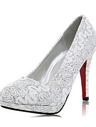Кружева женщин Свадьба стилет каблук насосы каблуки обуви (больше цветов)