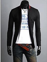 Moda auto-cultivo Leisure Suit Collar Mais tarde Masculina
