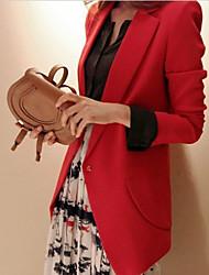 Xiuseliaoren Сладкий плеча Pad Тонкий пальто (красный)