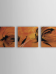 Stretched Canvas Print Art Abstract Floating Set of 3
