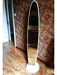 "63""White Rotating Oval Floor Mirror"