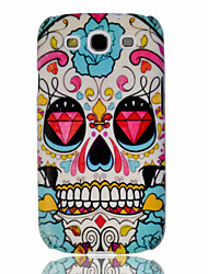 Diamond Skull Embossment Painting Pattern Plastic Hard Back Case Cover for Samsung Galaxy S3 I9300