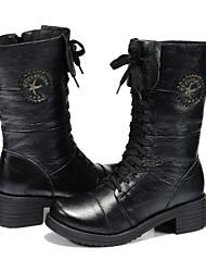Guciheaven New Classic Genuine Leather Martin Boots(Black)