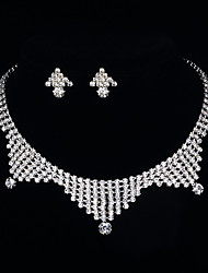 Triangle Necklace&Earring Set