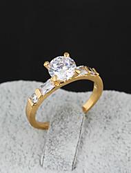 Yueli Frauen-18K Gold Zirkon Ring J0034