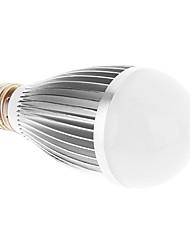 E27 7W 7xHigh Мощность 630LM 6000K Холодный белый свет Светодиодные лампы глобус - Серебряная гарантия (85-265В)