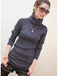 Botão Causal das Mulheres Neck Sweater