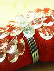 Floral Löschen Wedding Serviettenring Set 12, Acryl Dia 4,5 cm