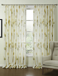 (Two Panels) Country Fresh Style Dandelions Energy Saving Curtain