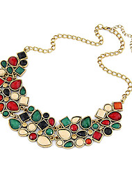 Women's Statement Necklaces Gemstone Resin Alloy Fashion Luxury Jewelry Green Jewelry Daily Casual 1pc