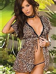 Сексуальная Leopard Открыть Slips С стрингами