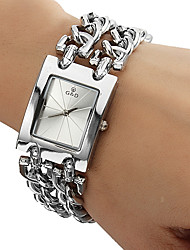 Women's Watch Square Radial Pattern Dial Bracelet Watch Cool Watches Unique Watches Fashion Watch
