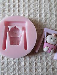 Balanço do bebê molde de silicone Fondant Moldes Sugar Craft Moldes de chocolate para bolos