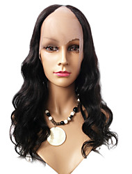 20inch Body Wave Middle Part Malaysian Remy hair U Part Wig