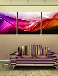 Leinwanddruck Kunst Abstract Red Wave 3-er Set