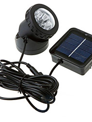 6-LED-Weißlicht-LED-Solarlicht Wasserdicht Garten Outdoor-Flut-Lampe