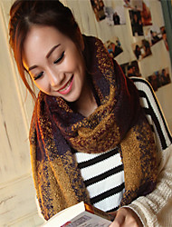 BY Fashion Check Pattern Warm Shawl/Scarf(Yellow And Green)