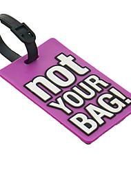 Персонализированные не-Бирки для багажа(Лиловый) -Классика Резина