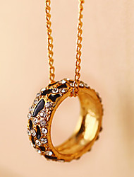 MISS U Women's Gold Leopard Long Necklace