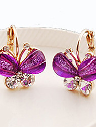MISS U Women's  Crystal Butterfly Earrings