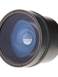 НОВЫЙ Ю.И. 58mm 0.25X Fisheye Объектив с широким Fisheye объектив для камеры (черный)