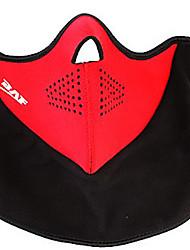 Neoprene + Velcro preto e máscara Red Windproof