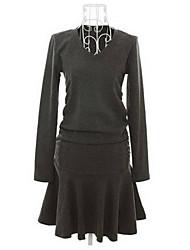 BZQ elegante pieghettato il vestito