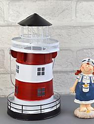 "10""H Mediterranean Style Creative Lantern Iron Candle Holder"