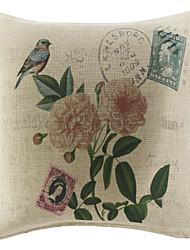 Poliéster Cojín con Relleno , Floral Campestre