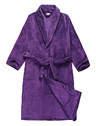 Bath Robe, Velour Purple Solid Colour Garment - 2 Size Available