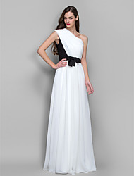 Formal Evening/Military Ball Dress - Ivory Plus Sizes Sheath/Column One Shoulder Floor-length Chiffon