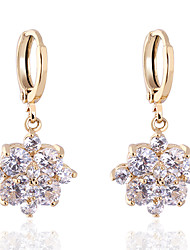 BIN BIN Women's 18K Gold Zircon Earings(ER0467)