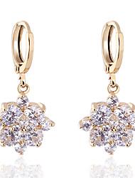 Boucles d'oreilles en or 18 carats Zircon de Bin Bin femmes (ER0467)