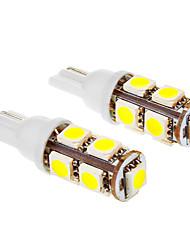 T10 1.5W 9x5050SMD 6000K Cool White LED Lampe für Auto (12V, 2 Stück)