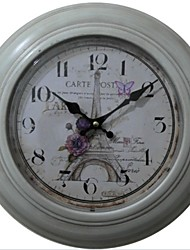 "12.75""H Eiffel Love Metal Wall Clock"