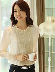 De las mujeres con estilo Krean Perlados gasa T-Shirt